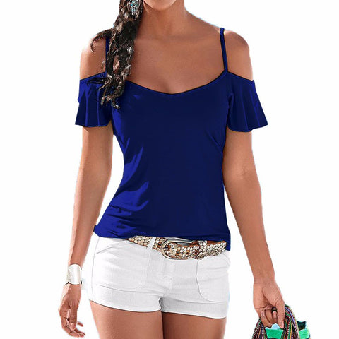 Women Casual Stretch Top Off Shoulder