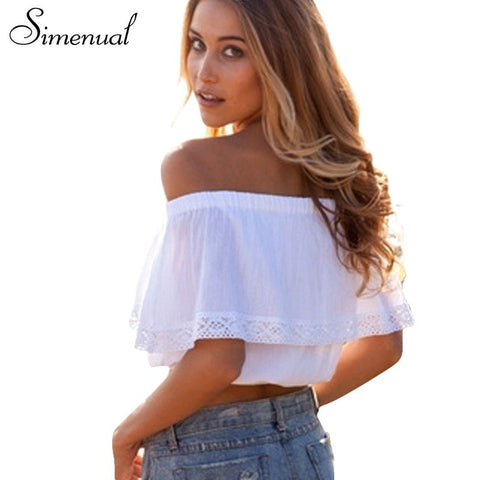 Bohemian White Crop Top