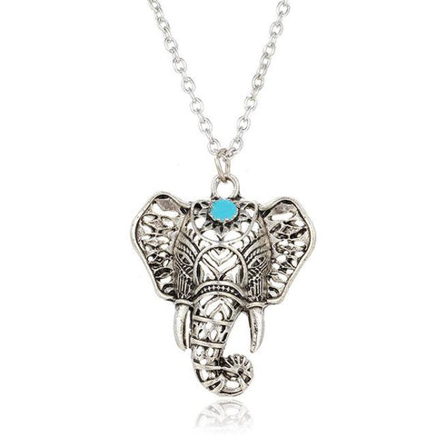 17KM Hot Vintage Elephant Boho Antique Necklace