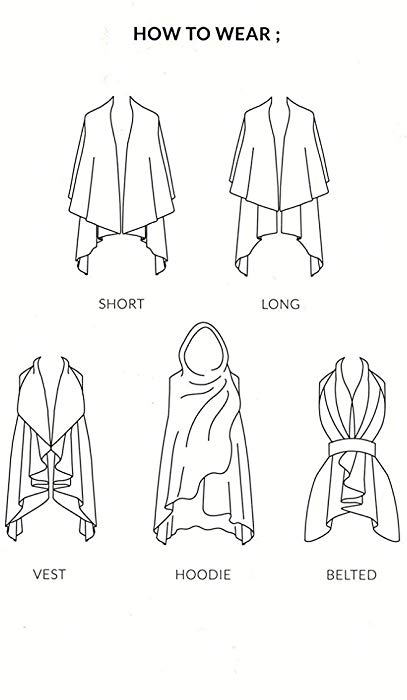 Basic Shawl Vest - Casis