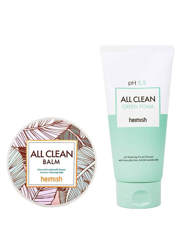 All Clean Balm + Green Foam Cleansing Set