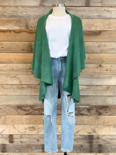 Basic Shawl Vest - Evergreen