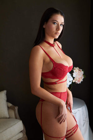 Load image into Gallery viewer, Alexandra Bondage Kinky Lace Set - Colette And Sebastian