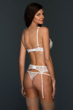 White Alexandra 3 Piece Lace Set