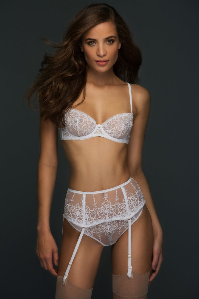 Ivory Allegra Unlined Balconette Bra