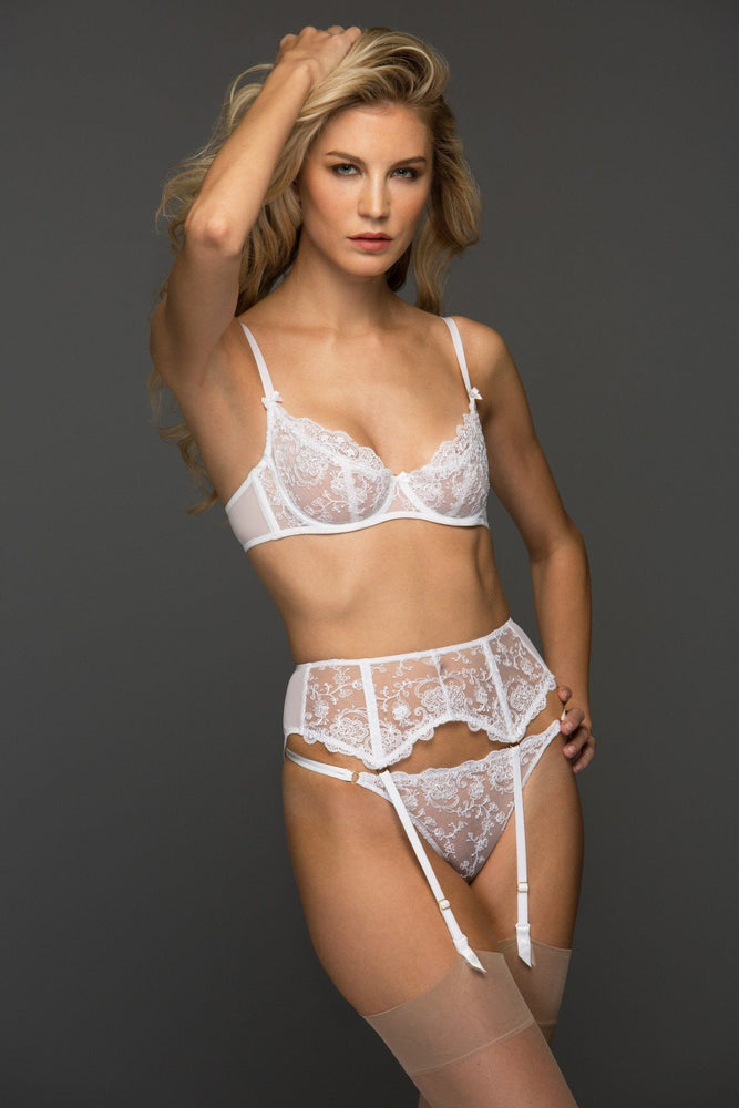 White Chantal Unlined Demi Bra