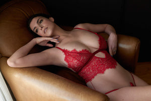 Load image into Gallery viewer, Malia Sheer Lace Bodysuit - Colette And Sebastian