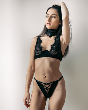 Load image into Gallery viewer, Malia Black Lace Choker - Colette And Sebastian