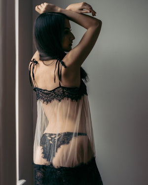 Load image into Gallery viewer, Malia Sheer Lace Chemise - Colette And Sebastian