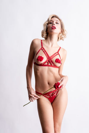 Load image into Gallery viewer, Red Natali X Bra