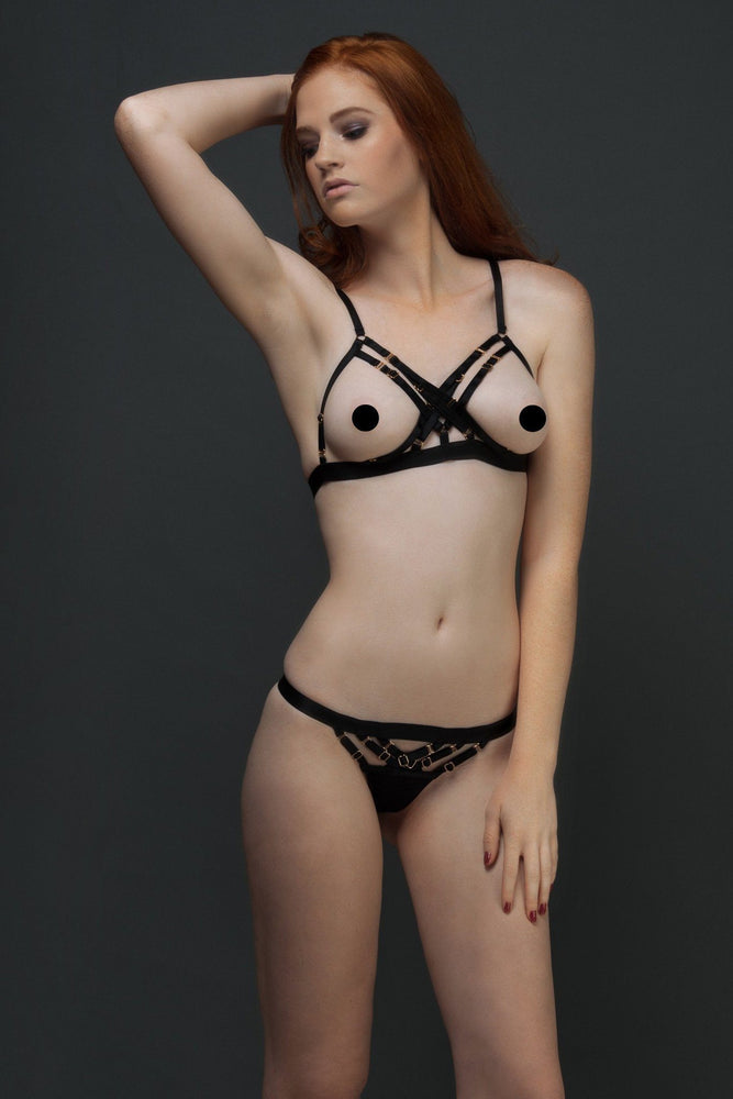 Load image into Gallery viewer, Black Natali X Bra