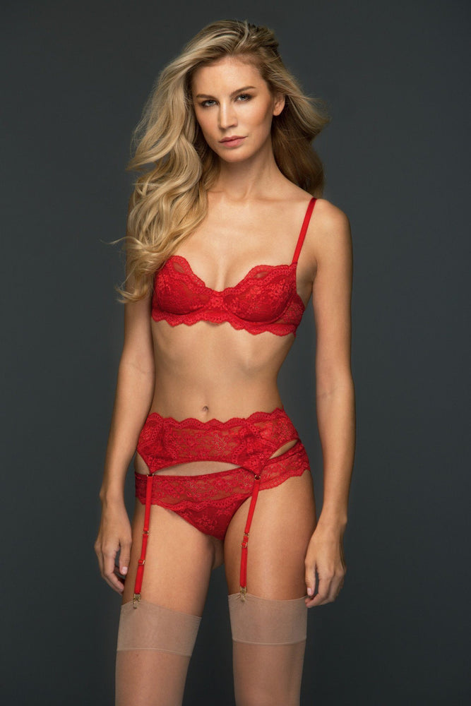 Red Sophia Suspender Belt