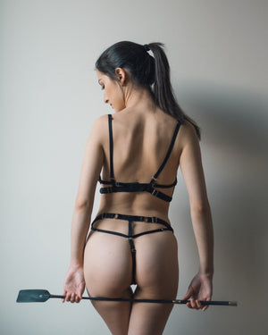 Load image into Gallery viewer, Black Stella Thong
