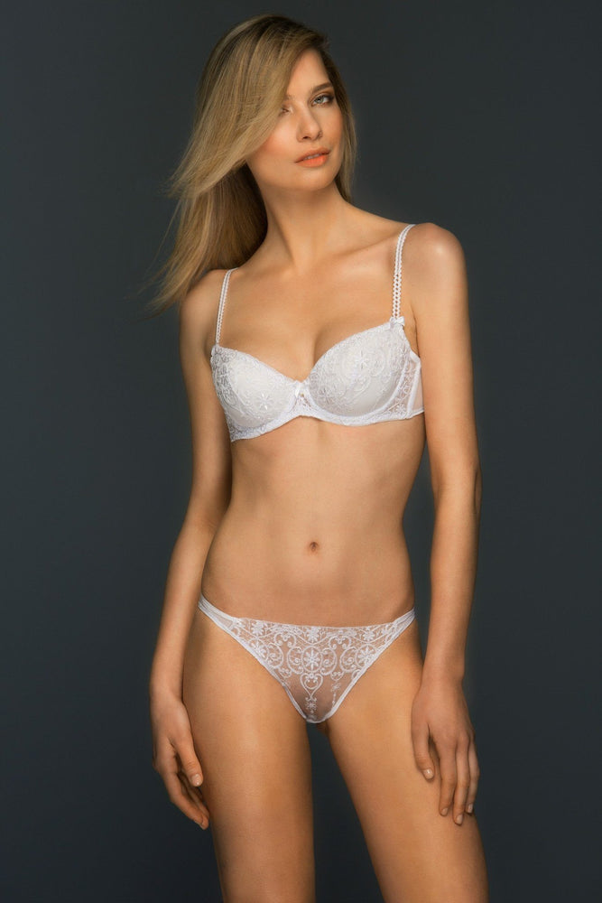 Load image into Gallery viewer, Allegra Sheer Lace Embroidered Bikini - Colette And Sebastian
