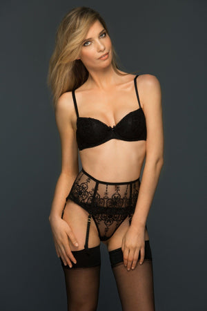 Load image into Gallery viewer, Black Allegra Lined Balconette Set