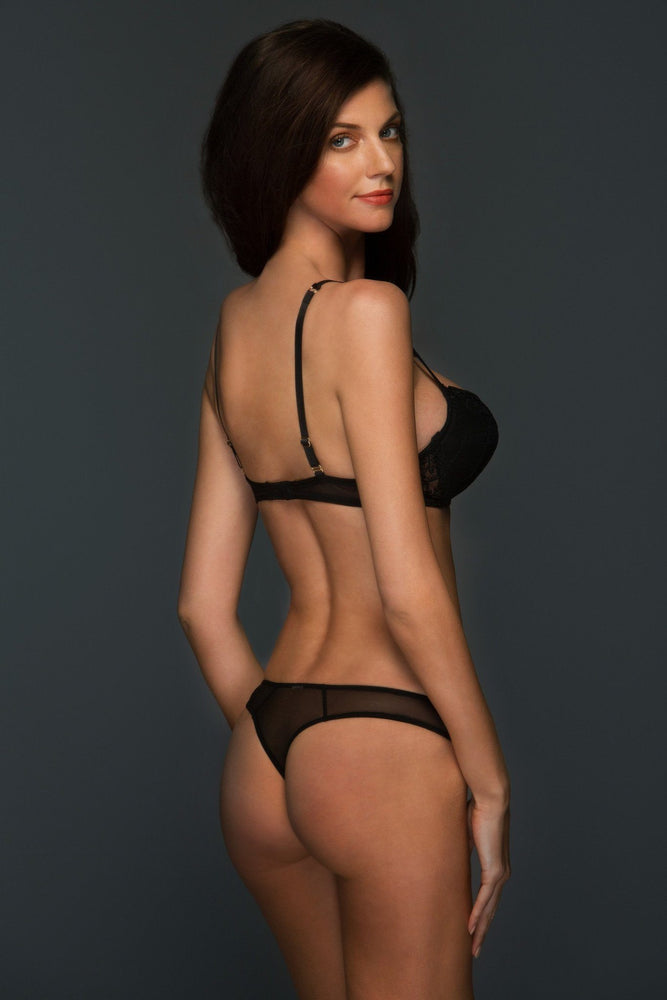 Load image into Gallery viewer, Black Allegra Lace Thong