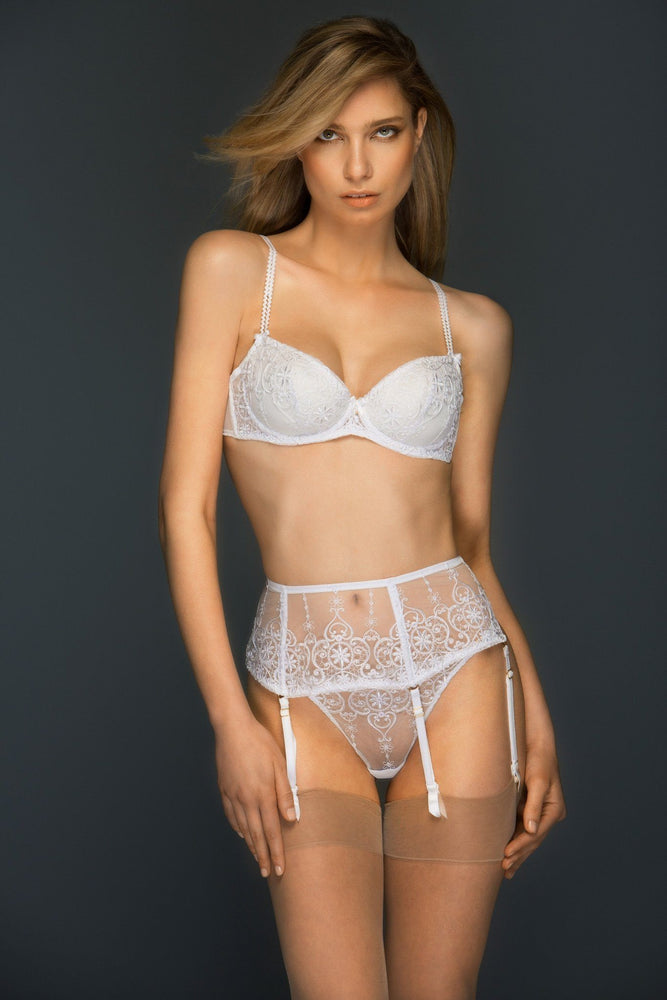 Load image into Gallery viewer, White Allegra Lined Balconette Bra