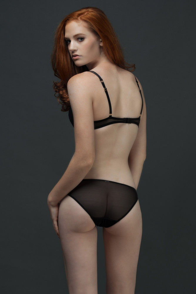Black Allegra Padded Plunge Set