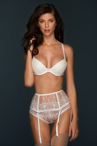 Allegra  Lace Wide Suspender Belt - Colette & Sebastian