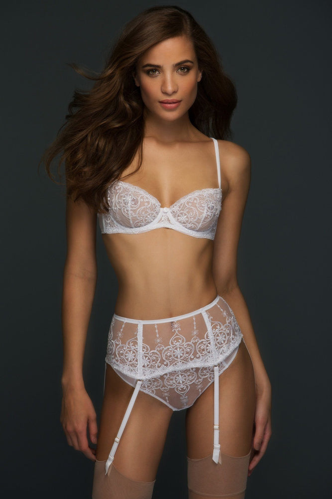 Load image into Gallery viewer, White Allegra Lace Thong