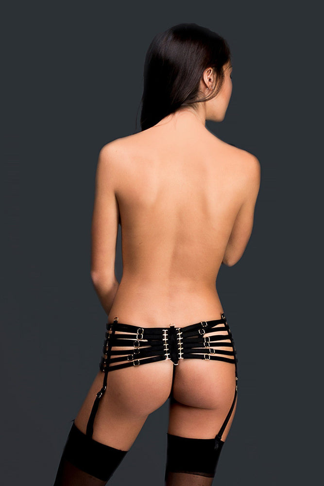 Load image into Gallery viewer, Black Anastasia Suspender Belt