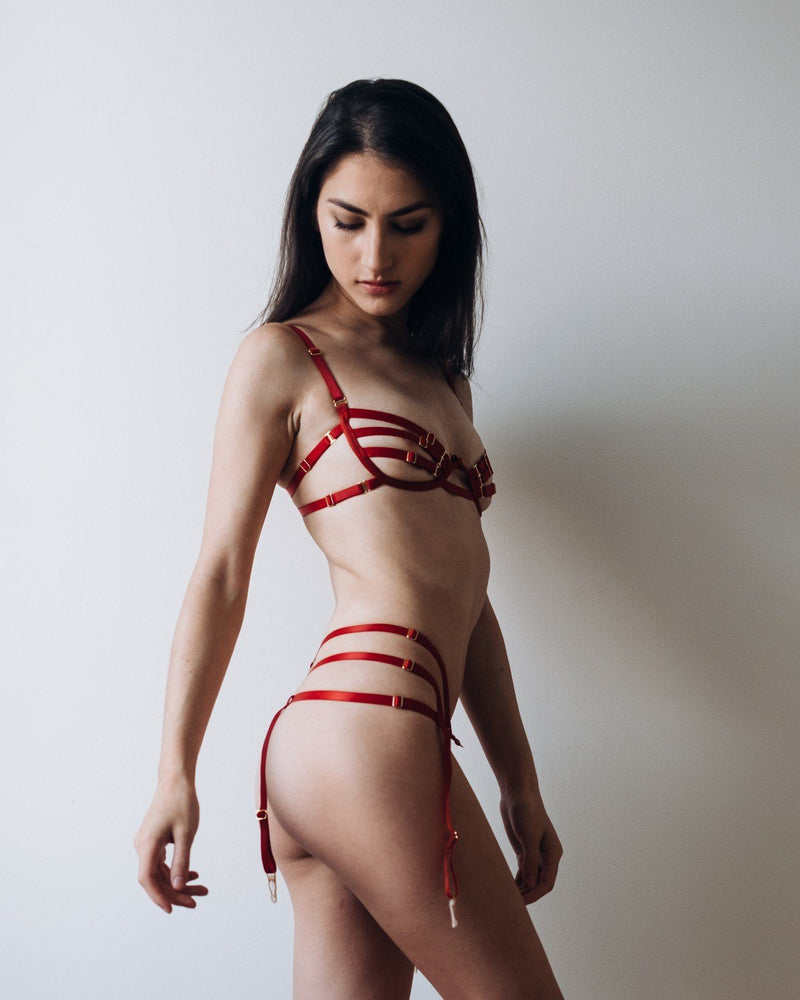 Load image into Gallery viewer, Red Barbara Thong