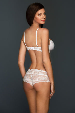 Load image into Gallery viewer, Blake White Lace Bra and Panty Lingerie Set - Colette And Sebastian
