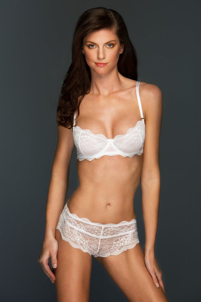 Blake White Lace Bra and Panty Lingerie Set - Colette And Sebastian