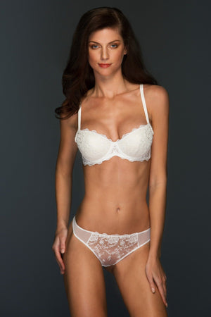 Load image into Gallery viewer, Chantal Lined Lace Balconette  Lingerie Set - Colette And Sebastian