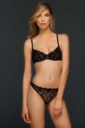Black Chantal Unlined Demi Bra