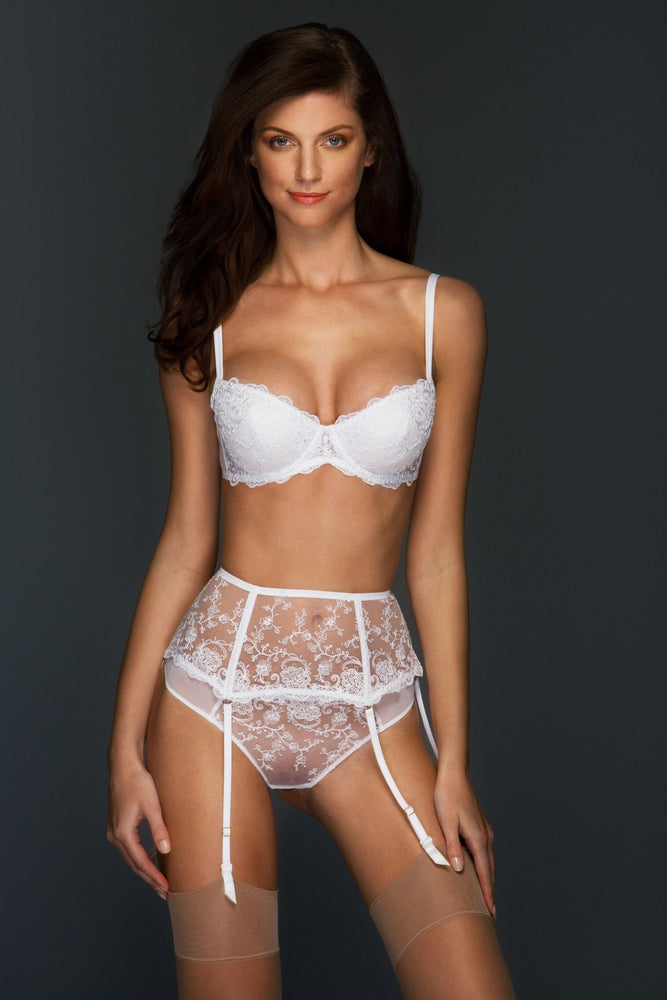 White Chantal Lined Balconette Set