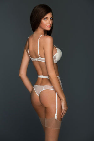 Load image into Gallery viewer, Allegra Padded Lace Plunge Lingerie Set - Colette And Sebastian