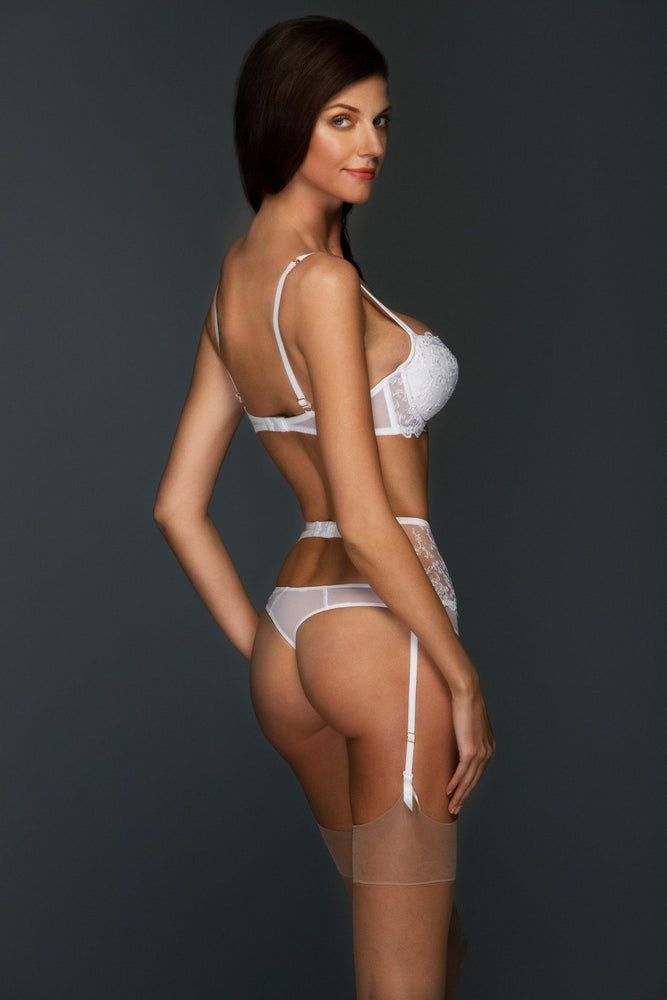 Load image into Gallery viewer, White Chantal Lined Balconette Set