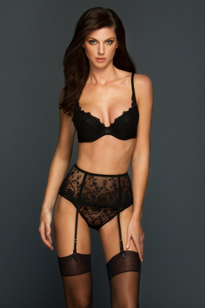 Chantal Padded Lace Plunge Bra - Colette And Sebastian