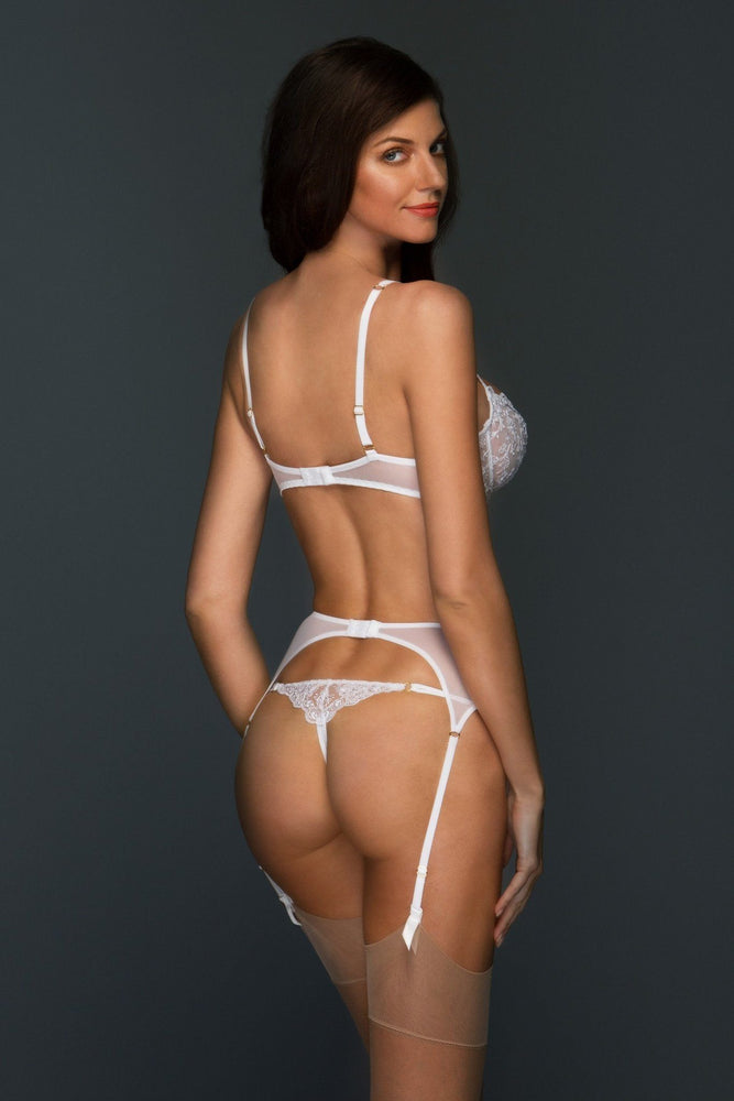 Load image into Gallery viewer, Chantal Unlined Sheer Embroidered Lace Balconette Bra - Colette And Sebastian
