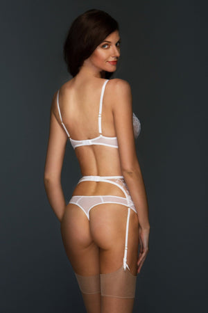 Load image into Gallery viewer, Chantal Unlined Embroidered Lace Plunge Lingerie Set - Colette And Sebastian