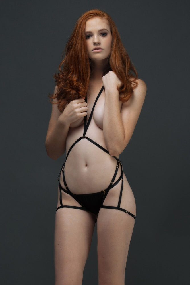Load image into Gallery viewer, Black Coco Bodysuit