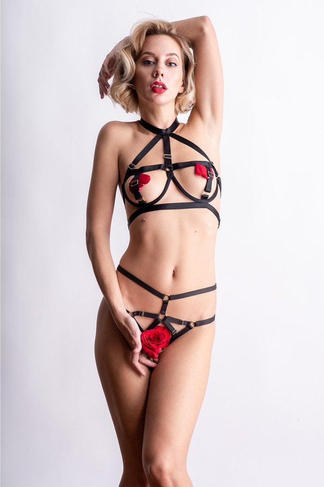 Load image into Gallery viewer, Gigi Open Cup Bra Set