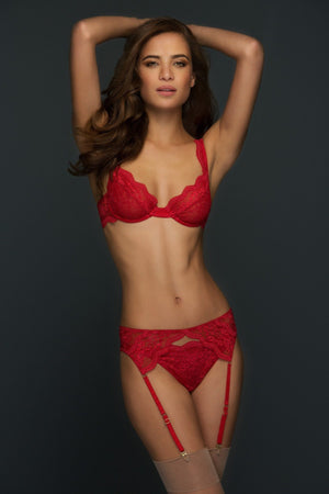 Load image into Gallery viewer, Juliette 3 Piece Lace Lingerie Set - Colette And Sebastian