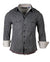 Men's Casual Fashion Button Up Shirt - Train in Vain by Rock Roll n Soul