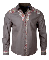 Men's Western Button Up Shirt - Western Flowers for Zoe by Rock Roll n Soul