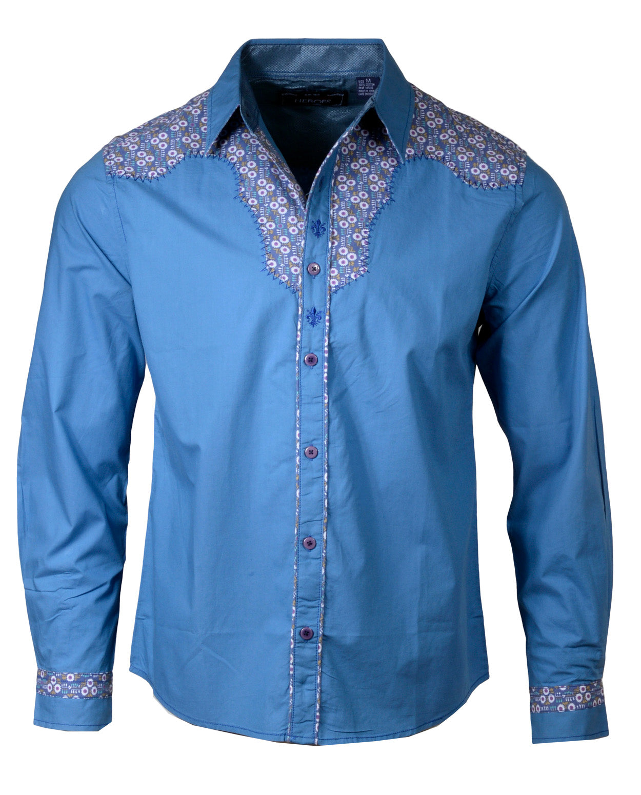 Men's Western Button Up Shirt - Western Blue Ain't Your Color by Rock Roll n Soul