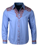 Men's Western Button Up Shirt - Western Rhinestone Cowboy by Rock Roll n Soul