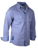Men's Casual Fashion Button Up Shirt - London Calling by Rock Roll n Soul1