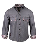 Men's Casual Fashion Button Up Shirt - Gimme Shelter by Rock Roll n Soul1