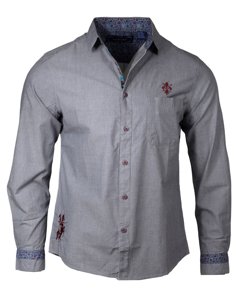 Men's Casual Fashion Button Up Shirt - Yesterday by Rock Roll n Soul