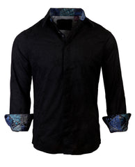 Men's Casual Fashion Button Up Shirt - 'Light My Fire' by Rock Roll n Soul
