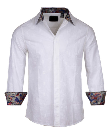 Men's Casual Fashion Button Up Shirt - 'Everybody's Talkin' by Rock Roll n Soul
