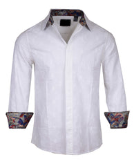 Men's Long Sleeve Jimi Hendrix Casual Fashion Button Up Shirt - 'Wind Cries Mary II' in White by Rock Roll n Soul1