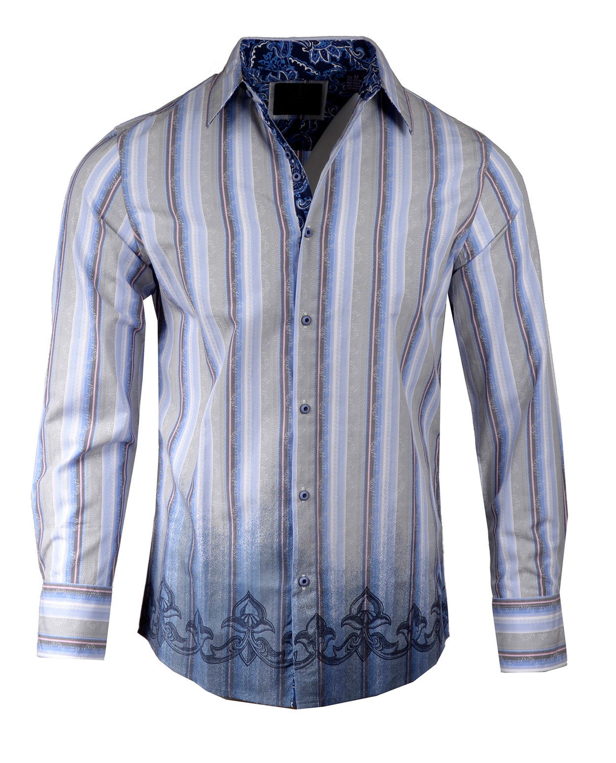 Men's Casual Fashion Button Up Shirt - 'Bridge over Troubled Water' Dip dyed by Rock Roll n Soul
